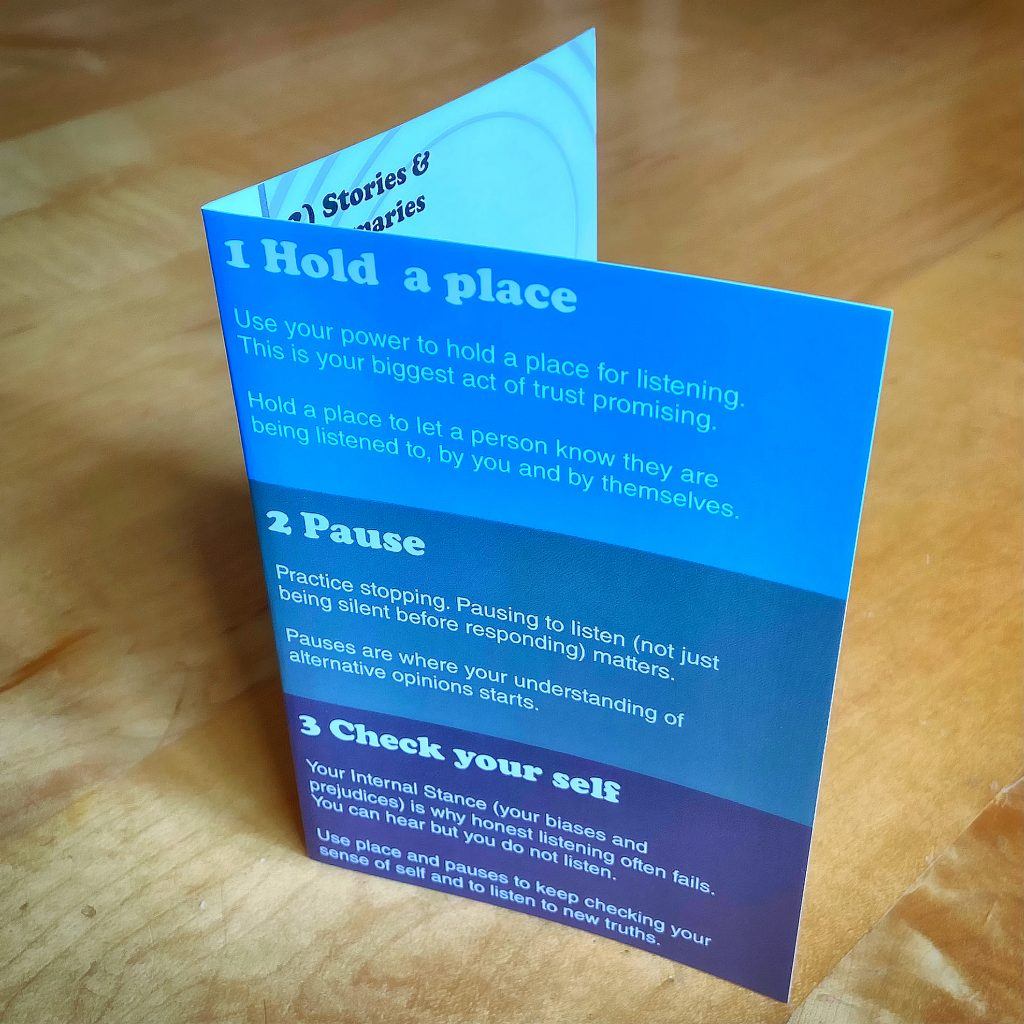 Active Listening card with three concepts